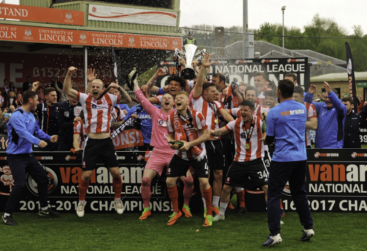 Lincoln City FC - Champions - Bluecube Re-New Lincoln City FC Sponsorship Deal After Memorable Season