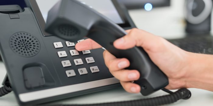 Customer service help desk using telephony