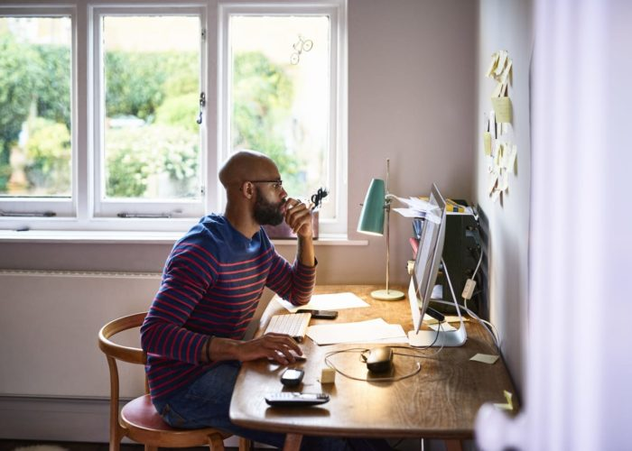 homeworker working from home